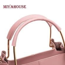 Miyahouse Candy Color Women Bucket Bags Fashion Handbag 3PCS/SET Female Leisure Shoulder Bag PU Leather Girls Composite Bag