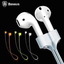 Baseus для apple airpods bluetooth беспроводные наушники ремень силиконовый кабель аксессуары строка веревка для воздуха бобы гарнитура