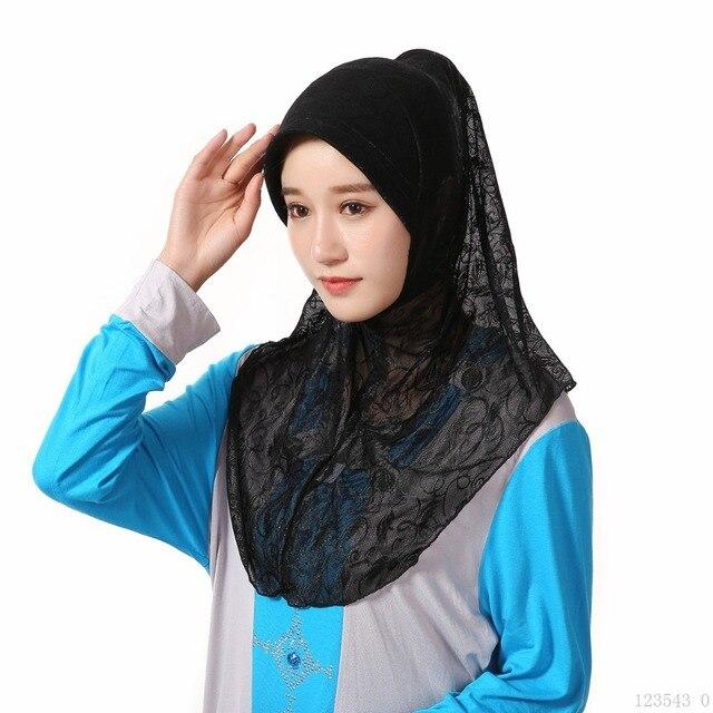 5421d0f5499 Under Hat Cap Bone Bonnet Ninja Inner Hijabs Women Muslim Islamic Wrap  Headscarf Neck Full Cover Scarf 12 Colors