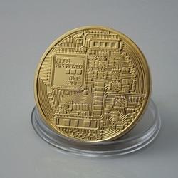 Casascius Bit Coin bitcoin Bronze Physical Bitcoins Coin Collectible Gift BTC Coin Art Collection Physical