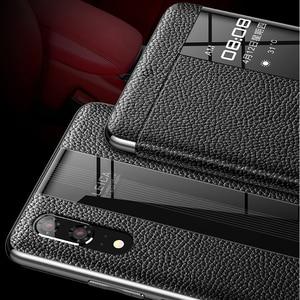 Image 4 - Sang Trọng Da Chính Hãng Huawei P20 Pro P20 View Thông Minh Da Điện Cho Huawei P 20 Pro nắp Bảo Vệ