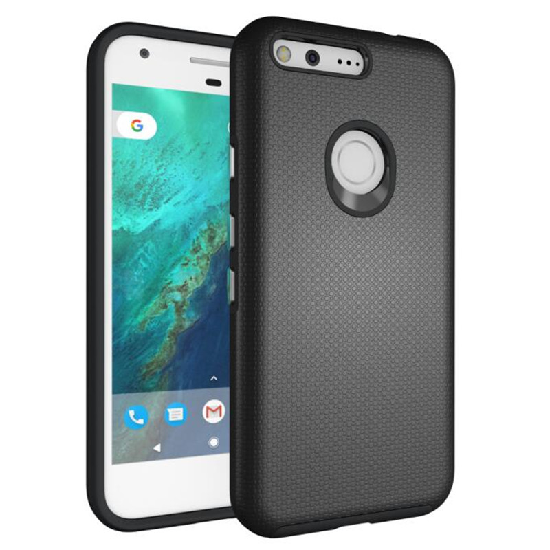 For Google Pixel Case Anti-Knock TPU&Amp;PC Plastic Dual Heavy Duty Armor Shield Cover For Google Pixel Mobile Phone 5.0