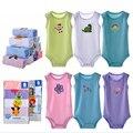 5 pçs/set clothing sleevesless verão corpo bebes bodysuit bebê recém-nascido da menina do menino do bebê menina bodysuits triângulo macacão roupas