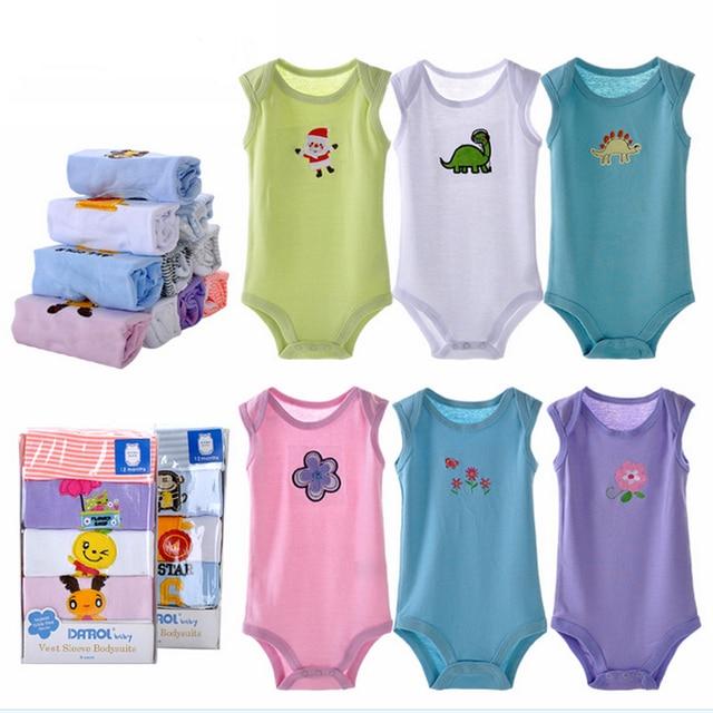 539c58e0c 5pcs set newborn bodysuit baby girl boy clothing summer sleevesless ...