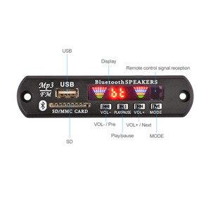 Image 2 - AIYIMA 12 V Bluetooth MP3 Dekoder Kurulu 4 Renkli Ekran USB FM APE FLAC Kayıpsız Çözme kablosuz Bluetooth 5.0 Modülü Handsfree