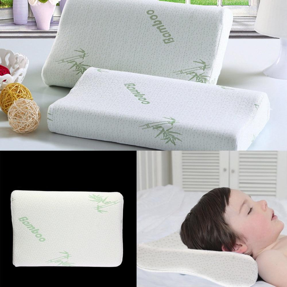 children adjustable bamboo pillow slow rebound memory foam pillow health care contour memory foam for neck shoulder support