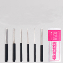 Disposable Microblading Tattoo Round Needles Eyebrow Professional Sterilized Permanent Makeup Shading Micro Blades Tool Supplies