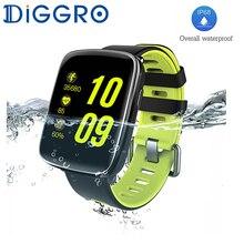Смарт-часы diggro GV68 IP68 водонепроницаемый MTK2502 Спорт Bluetooth 4.0 сердечного ритма Мониторы SmartWatch шагомер для iOS и Android
