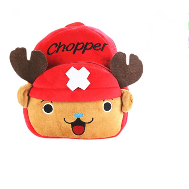 Kawaii Anime Totoro/Doraemon/Chopper/Kumamoto Bear Plush Backpacks Cute Peluche Bags Soft Stuffed Toys Doll for Children Gift