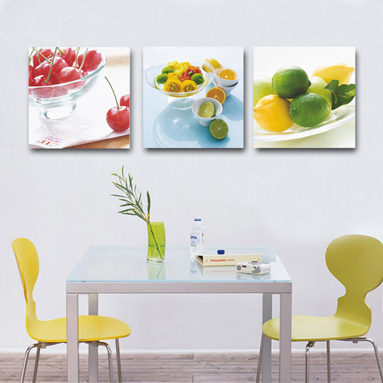 Modern Home Decor Kitchen Decorative Canvas Fruit Lemon Cherry Prints Painting Realist Still Life Art For