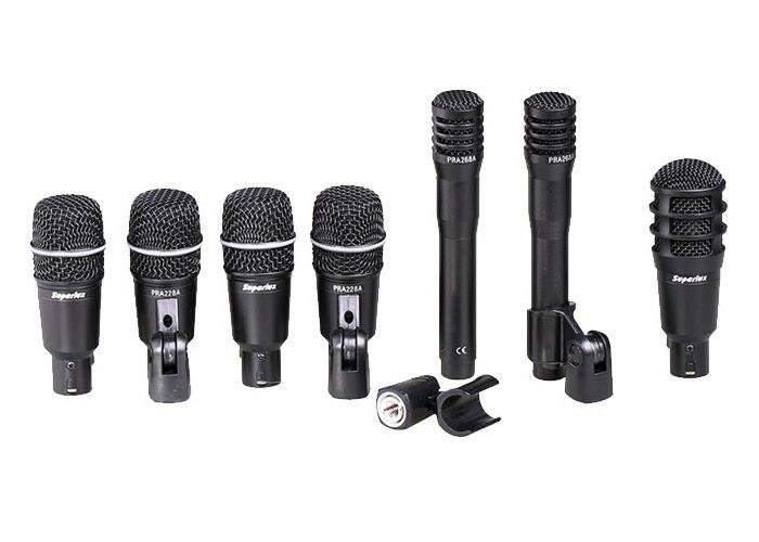 100 original superlux drka5c2 drum microphone set 7 kit instrument microphone in microphones. Black Bedroom Furniture Sets. Home Design Ideas