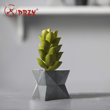SN0034 3D vase succulent flower pot Cement molds geometric shape silicone mold handmade concrete mould aroma stone moulds