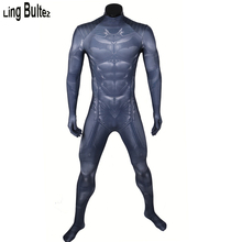 Ling Bultez High Quality New Muscle Shade Batman Costume 3D Printing Batman Spandex Suit