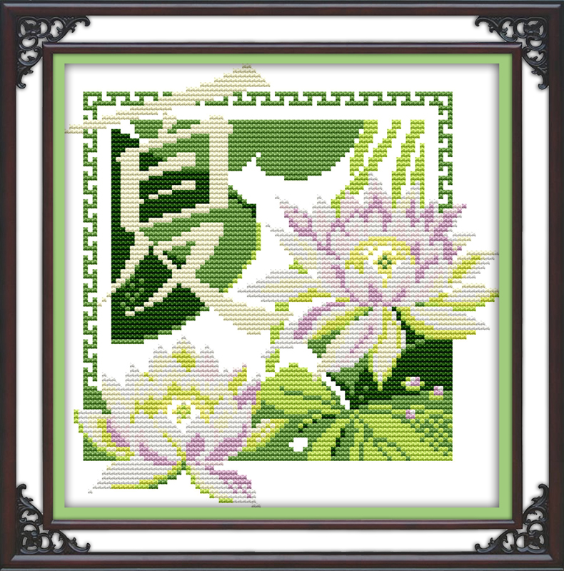 summer Energetic Poetry 2 Cross Stitch Kit Chinese Style 14ct 11ct Count Print Canvas Stitching Embroidery Diy Handmade Needlework Plus