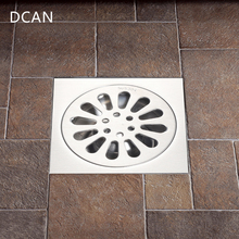 DCAN Floor Drain SUS304 Square Shower Drainer Grate Waste Tile Insert Square Floor Waste Grates Bathroom Drains Drain Strainers wall drain floor large traffic sus304 30cm drainer bathroom shower drainage waste drain big flow rate refuse nasty smell drains