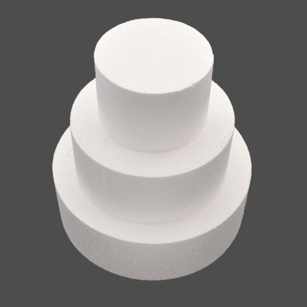 New 4/6/8/10 Inch Cheap Party DIY Patrice Model Cake Dummy Sugarcraft Foam Mould Round Polystyrene Styrofoam Kitchen Accessorie