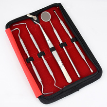 5Pcs Dentist Teeth Clean Tool Top Quality Dentist Teeth Clean Hygiene Safety Probe Hook Pick Kits With Mirror
