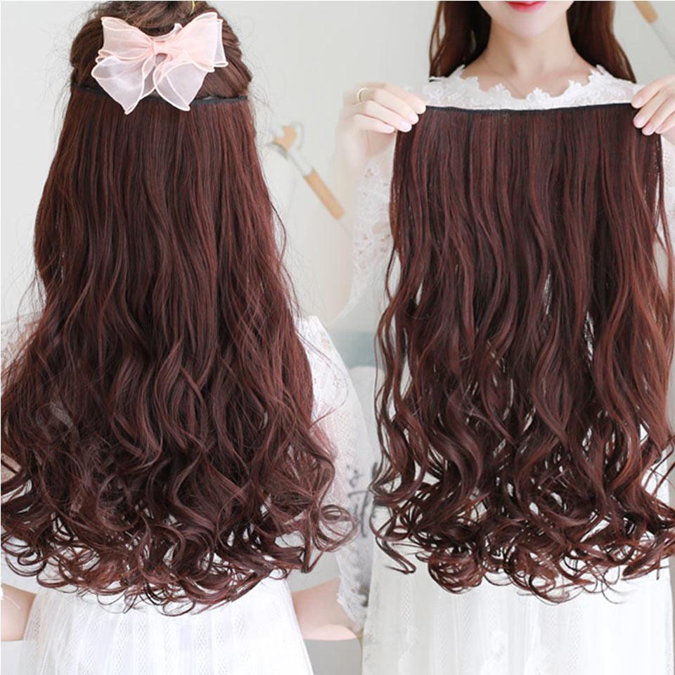 AOSIWIG Olika storlekar Långt vågigt 5 Klipp i hårförlängningar - Syntetiskt hår - Foto 4
