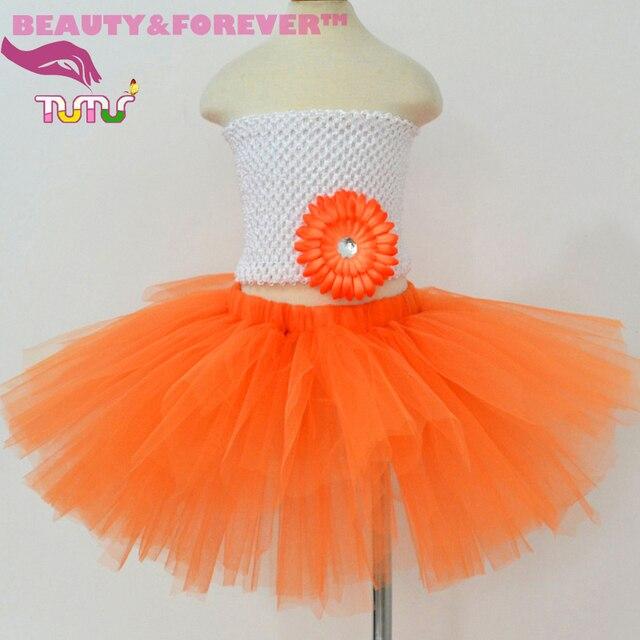 512d8ef7a9 Naranja tulle tutu niños de halloween trajes de disfraces para niñas  paumpkin linterna