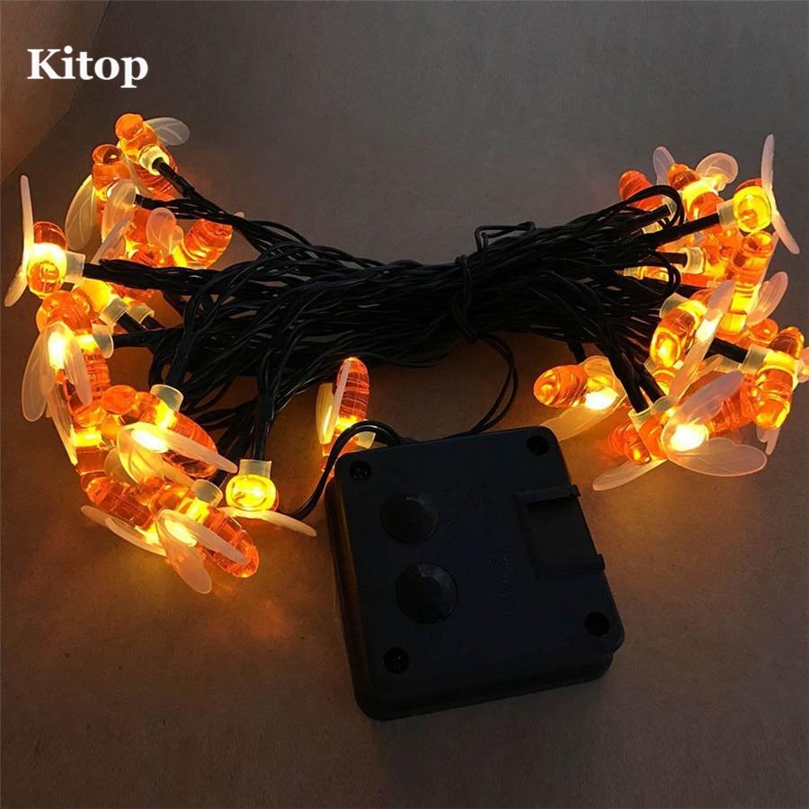 Kitop Bee Solar led String light 5M 20Led Waterproof outdoor garden Decorative Christmas Fairy lighting 8