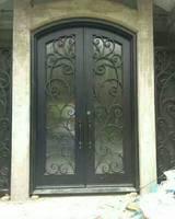 항목 문 외부 문 상단 transom 아름 다운 단 철 문
