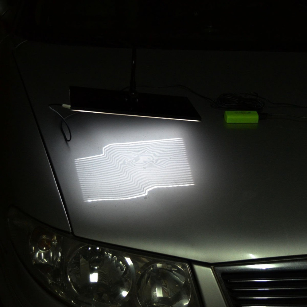 WHDZ PDR Strip Line Board Reflective Board PDR Light Lamp PDR Light for Dent Detection Hail Damage Repair with Ajustment Holder (9)