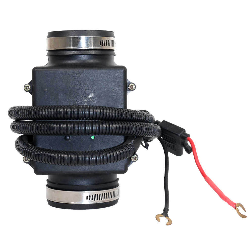 Universal Black Electric Turbo Turbocharger Supercharger Kit Thrust Motorcycle Air Filter Intake