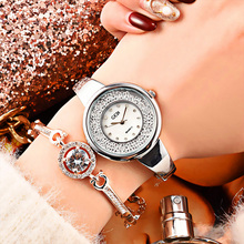 New Fashion Watches Shining Crystal Elegant Rose Gold Women Quartz Watch Water Resistant casual Design  Femininos