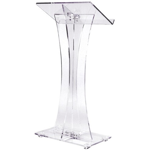 Modern Office Floor Reception Executive Computer Desk Design Furniture Rostrum Speaker Table Acrylic Lectern Logo Customized