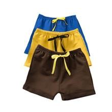Хлопковые шорты для маленьких мальчиков, однотонные детские шорты, штаны на подгузник, летняя тонкая одежда для маленьких мальчиков, модные шорты для маленьких девочек
