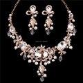 2016 accesorios de la boda caliente venta la joyería de la gota de agua tipo Rhinestone pendientes del collar nupcial accesorios del vestido B20150917