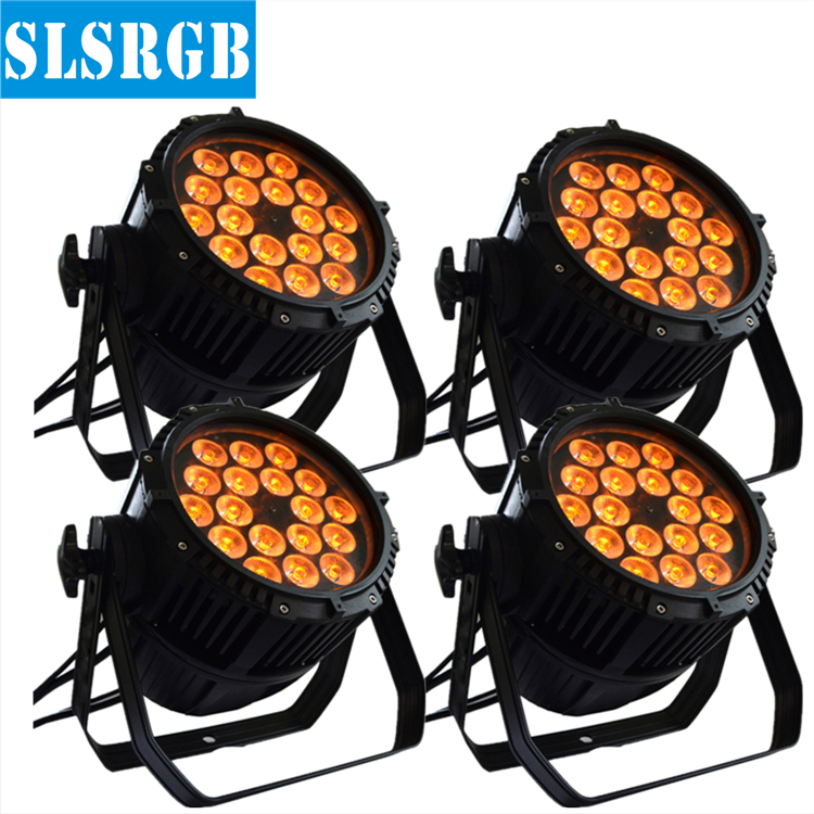 4pcs/lot outdoor led lighting par 18pcs led par light 4 in 1 IP65 disco light most powerful outdoor high led lights China market