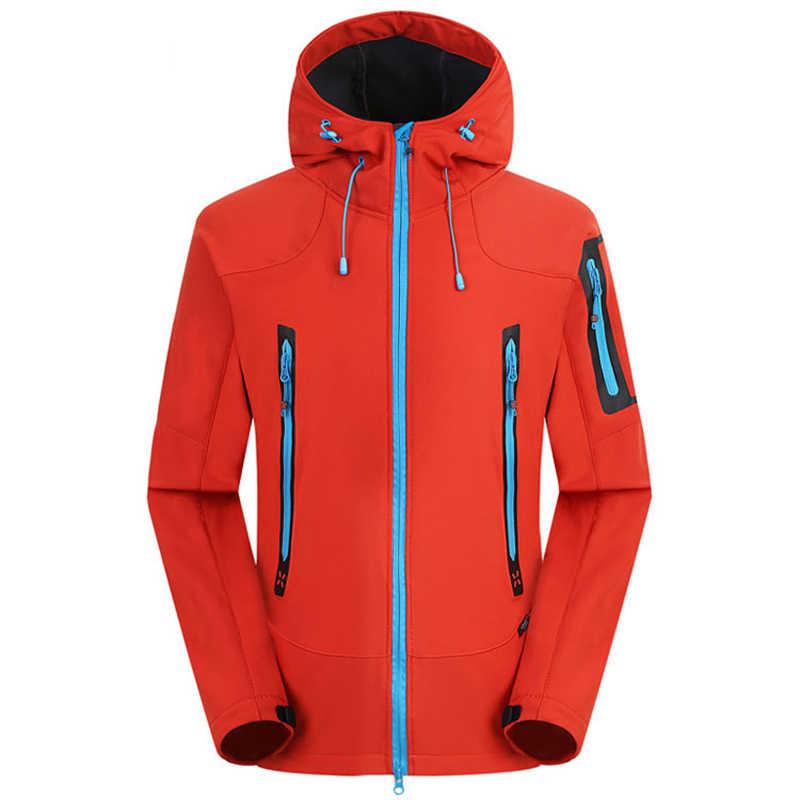 真新しい屋外狩猟キャンプハイキングジャケット防風防水透湿ソフトシェルジャケット男性の女性のコート