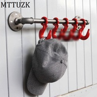 MTTUZK Vintage Heavy Industrial Loft Pipe Interior Decor Bathroom Decor Steampunk Decor Wall Hook Hat Rack Robe Hook Coat Hanger
