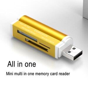 Image 2 - 4 で 1 USB マイクロ USB 2.0 アダプタマイクロ Sd Sdhc TF M2 MMC MS PRO デュオカードリーダー