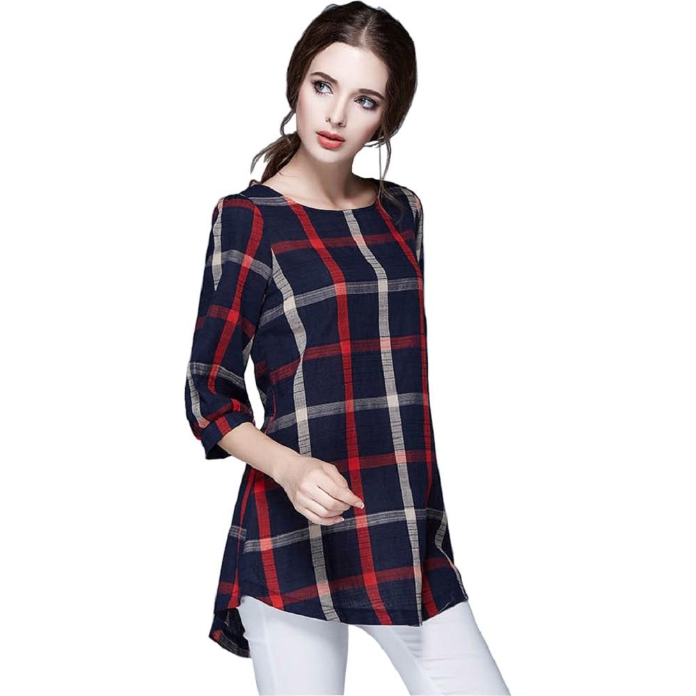 Women?s fashionable plaid shirts