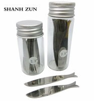 SHANH ZUN 10 20 PCS Stainless Steel Fish Shaped Collar Stays In Glass Bottle Unique Gift