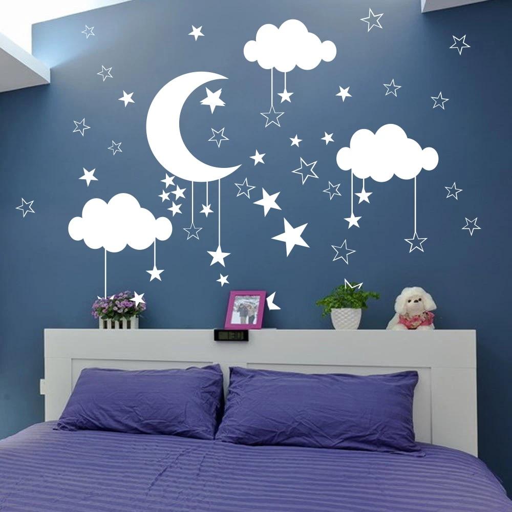 Moon Watercolor Wall Decal Art Stickers Vinyl Decor