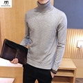 Turtleneck mens sweaters stylish Solid Color Knitted Pullovers Sweater Men  2016 New Autumn Winter Pull Homme