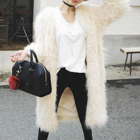 Mongolie D'hiver Filled Femmes Automne De Épaissie Moutons Manteau Beige Mode Pour beige longueur Genou Nouvelle Fourrure Vêtements Cotton No Longue Et wqIxXnA