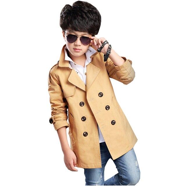 2017 мальчика Пальто Осени Малышей с длинным Рукавом Ветровка Дети Пальто Верхняя Одежда