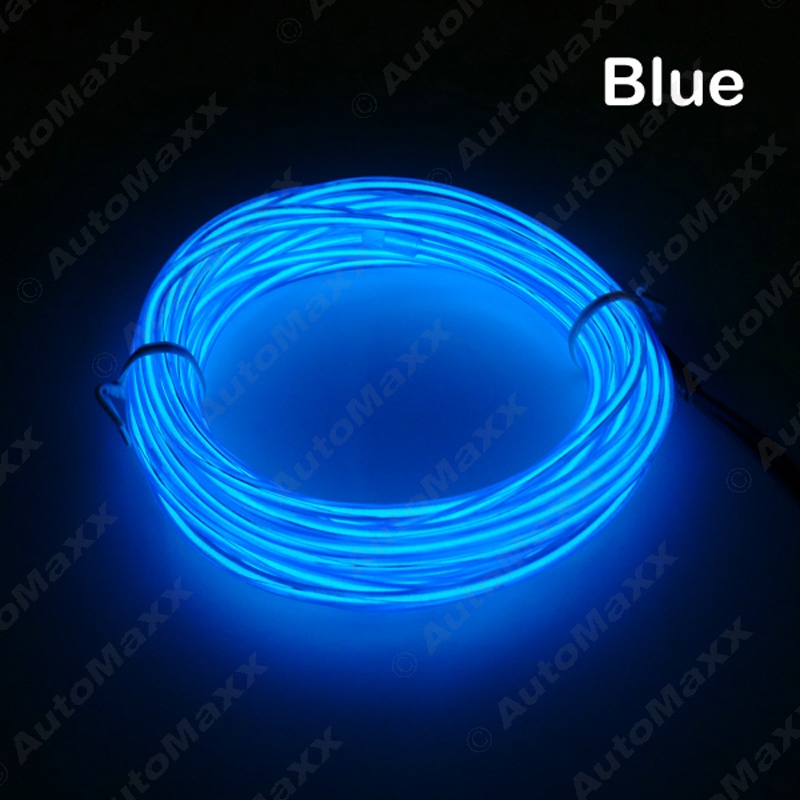 5M Blue Flexible EL Neon Glow Lighting Rope Strip + Charger For Car Interior Cigarette lighter #J-3095 венто neon m
