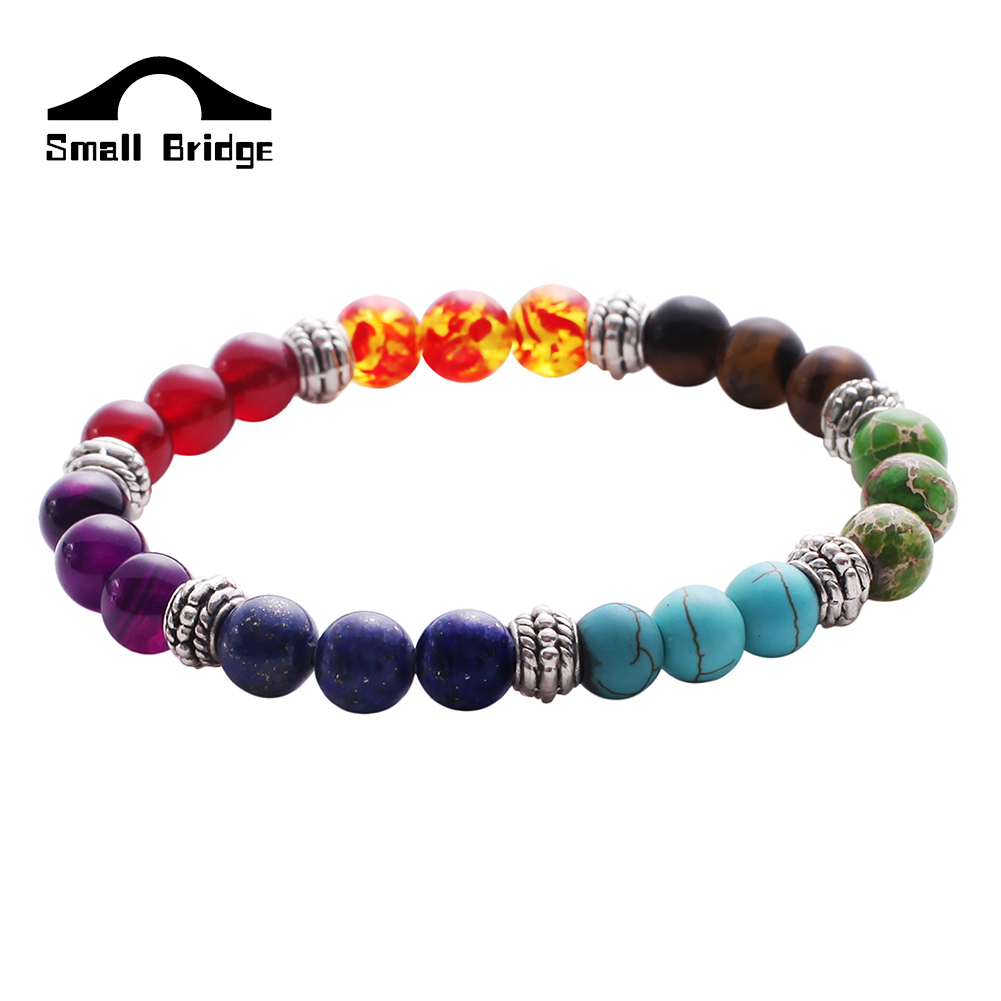 Multicolor Volcanic Lava Stone Buddha Beads Bracelet For Men Fashion  Personality Jewelry Wholesale Western Style Gift