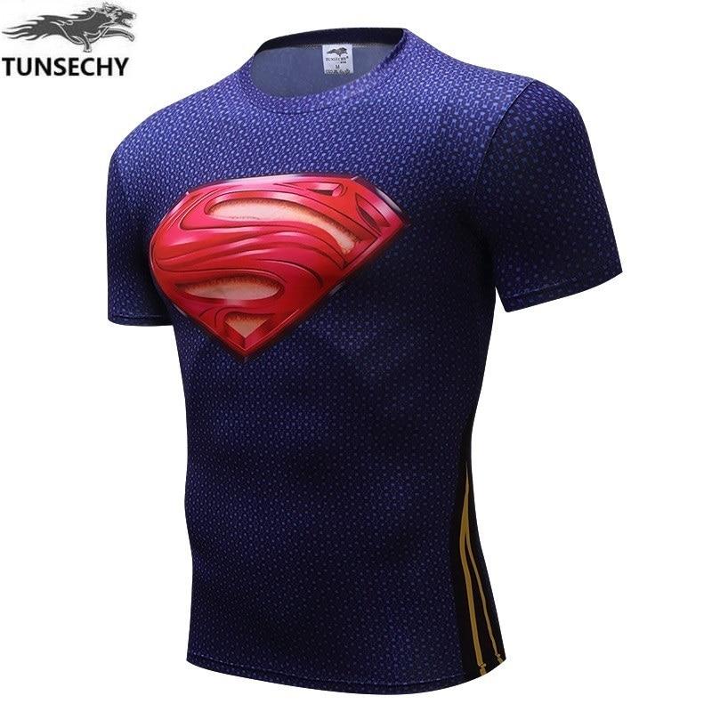 Batman VS Superman T Shirt Tee 3D Printed T-shirts Men Short Raglan sleeve Fitness Cosplay Costume Slim Fit Compression Top Male
