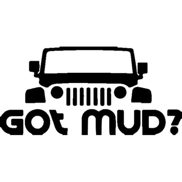 22cm10 8cm got mud popular car decals winter off road car sticker and vinyl