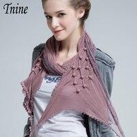 2016 Hot Sale Stylish All Match Elegant Scarves For Women Lace Flower Design Solid Scarf Super
