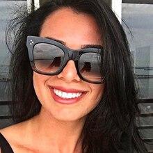 2019 Fashion Cat Eye Leopard Sunglasses Women Brand Designer Vintage Ladys Square Sun Glasses Oculos De Sol feminino UV400 D9768
