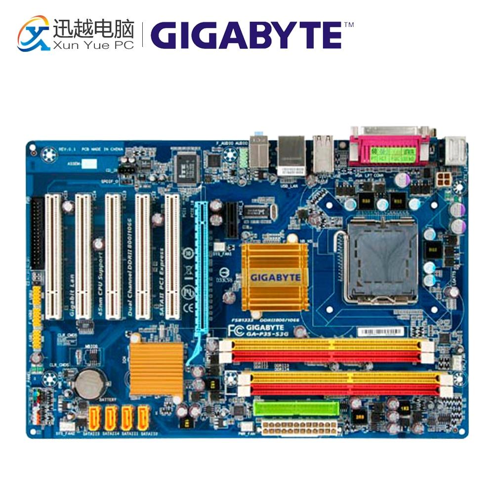 Gigabyte GA-P35-S3G Desktop Motherboard P35-S3G P35 LGA 775 DDR2 8G SATA2 ATX asus p5k se epu original used desktop motherboard p35 socket lga 775 ddr2 8g sata2 usb2 0 atx