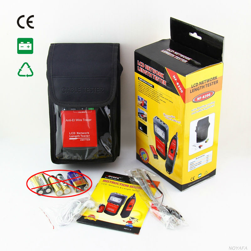 ФОТО High Quality LCD LAN Tester Network telephone cable tester RJ45 Cable Tester Ethernet Cable Tracker NF-8200