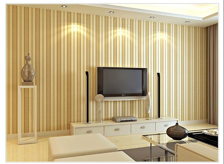 Buy vertical stripe pattern non woven for Living room versus family room